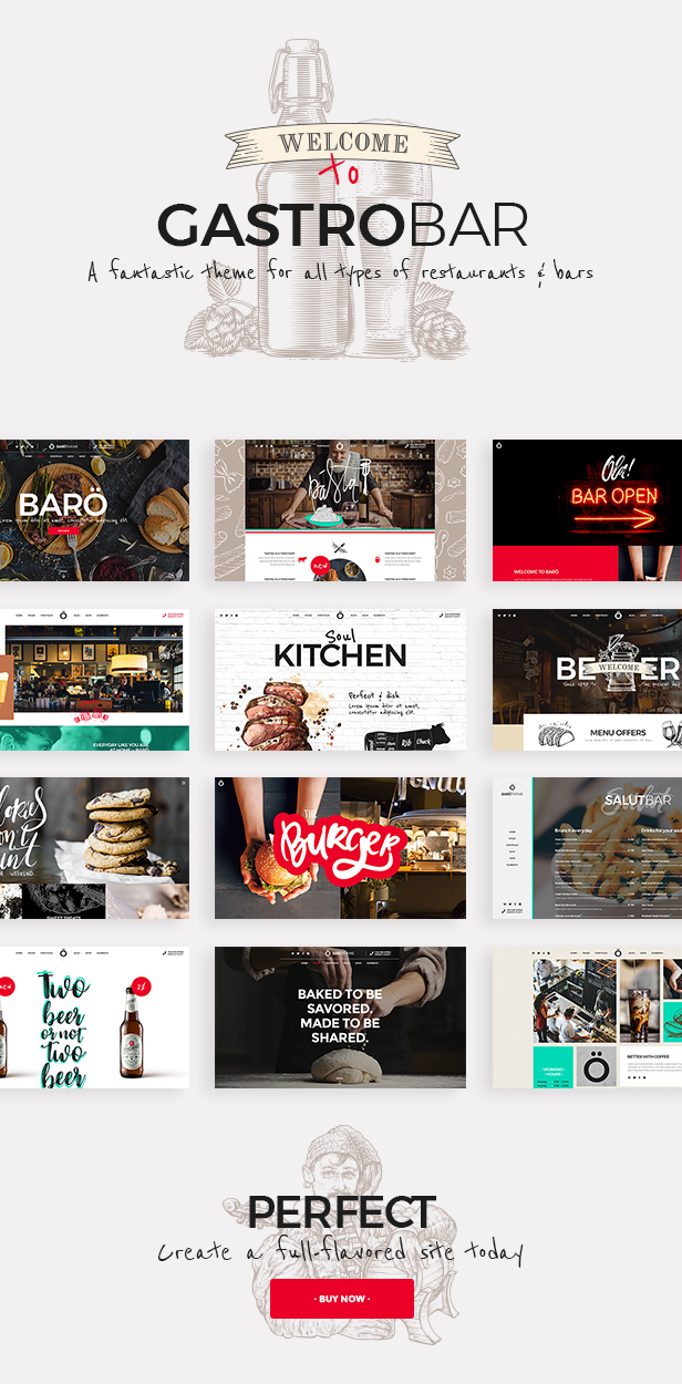 GastroBar - Theme for Fast Food Restaurants and Bars - 1